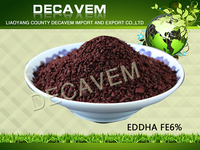 Directly from factory and top quality EDDHA Fe 6%, chelated micronutrient fertilizer eddha fe 6%