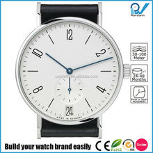 316L stainless steel case sapphire crystal quartz movement small dial second hand 100% genuine leather nomos style vogue watch