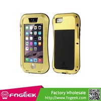 For iPhone 5s 5 LOVE MEI Metal + Silicone + Gorilla Glass Hybrid Case