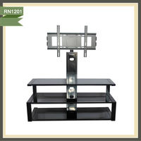 high end glass lcd tv stand tv cabinet with showcase RN1201