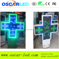 p10 p16 p20 p25 full color LED Cross Display for Pharmacy/3D High quality LED Pharmacy cross by wireless control