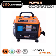 Mini portable gas generator 650w gasoline engine generator set JP950