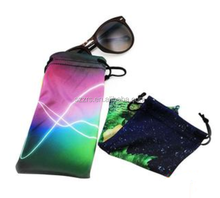 logo printed microfiber sunglasses pouch eyeglasses bag