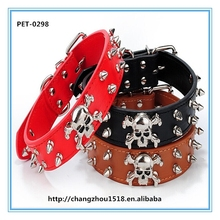 Hot selling dog collars with skull pet accessories wholesale in China