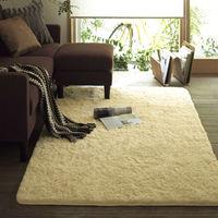 multipurpose long pile microfiber shaggy carpet and rug for living