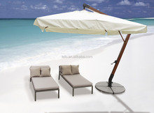 ratten sun lounger with pillow