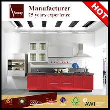 Modern pvc aluminium kitchen cabinet mat unit simple designs factory prices