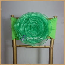 C116(2) from China factory custom green color elastic chair sash with band