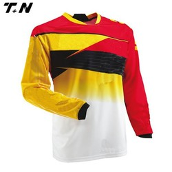 100% polyester breathable mesh fabric motorcycle jersey shirt