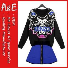 ae de primavera de moda nuevo diseño suéter niña conjunto