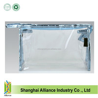 Eco-friendly Large Compartment clear PVC women handbags recyled wash organizer bags waterproof makeup pouch