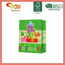 2014 Hot Selling Promotional Paper Industry Packaging Birthday Paper Gift Bag