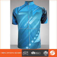 customized mountain sublimation print cycling clothing china,blue cycling jersey