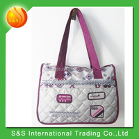 Stock Supply Polyester Shoulder Tote Shopping Bag
