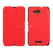 ultra slim bracket stand holster filp leather phone case cover for sony xperia e4g