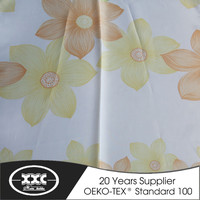 High quality beautiful voile printed cheap patterned curtain stock 2015