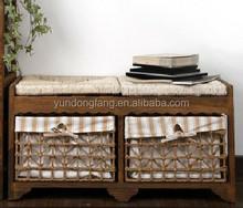 Indoor Antique Wooden Bench