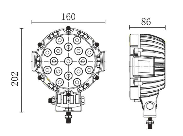 Dernières originale pas cher conçu mode voiture lampe de travail pour accessoires