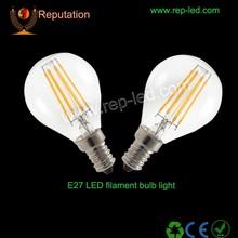 clear glass 360 degree led bulb CE/ROHS/UL led filament bulb globe SMD2835 e27 b22 new led bulb india price