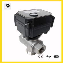 CWX 3 way electric actuator ball valve with position indicator for irrigation equipment,solar water heaters