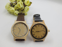 2014 new fashion eco-friendly wooden watch with leather band