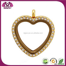 Stainless Steel 316L Jewelry Chain Glass Floating Memory Locket Charms