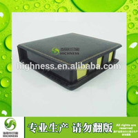 small leather boxes inserted with canlendar pu leather box with memo pad holder Sticky note with leather box