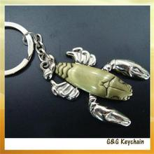 J5065 Factory Direct Sales of Hands and Feet can be Activities in Various Color of Zinc Alloy Shrimp Keychain