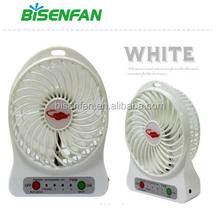 2015 hot sell rechargeable battery mini standing fan