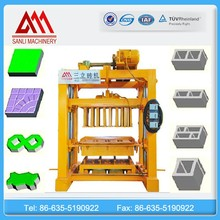 QTJ4-40 cement Hollow block making machine, brick making production line