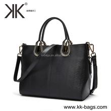 Hot trendy fashion elegant lady handbag genuine leather hand bags and purse