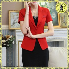 fashion red lady suits