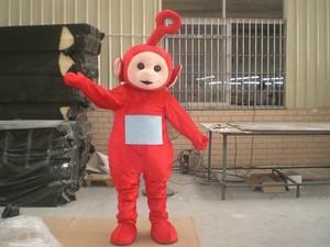 Смешной телепузики взрослый костюм, смешные костюмы талисмана, забавный карнавальный костюм