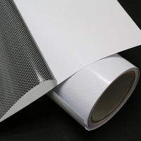 Removable micro perforated window film vinyl one way vision window film auto car inkjet films for solvent solutions