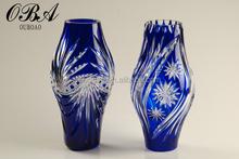 Beautiful craft glass flower art vase for decoration