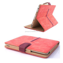 Hot selling flip design pu leather tablet tablet cover for ipad air 2 leather case