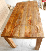Solid Mango Wood Extra Large Dinning Table with Natural Wood Finish