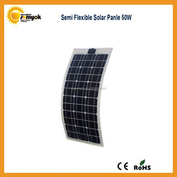 top supplier flexible pv solar panel 50w the lowest price for led light