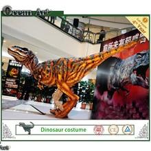 caminar para adultos traje de dinosaurio para parque jurásico