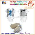 Alta qualidade super macio do bebê recém-nascido menino sapatos de bebê rompers