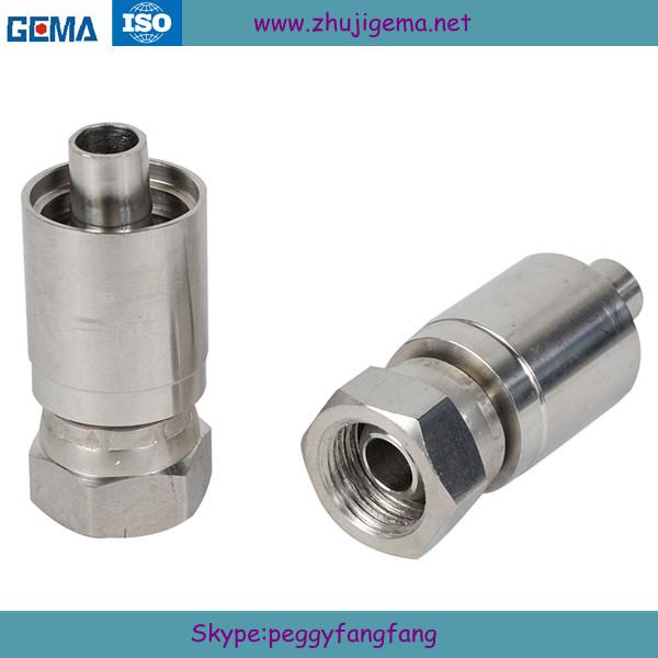 Steel Hydraulic Fittings : Metric steel one piece connections ferrule parker