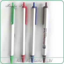 wholesale cheap click bic stic promotional plastic white stick pen