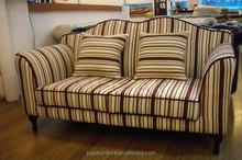 Living room furniture /Antique fabric sofa of 2 seats