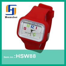 Newest Waterproof interchangeable face watch with different color straps