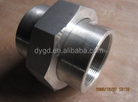 Hex Double Threaded pipe union NPT Stainless steel