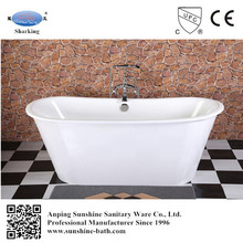 67-inch hot porcelain soaking tub,China factory,cast iron 2 person bathtub/bath