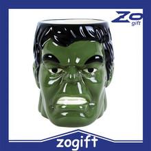 ZOGIFT Don't Make Me Angry Green Fist Hulk Style Coffee Mug Hot Chocolate Cup Gift