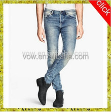 Mens washed denim jeans 2015 new style wholesale hot pants 100%cotton