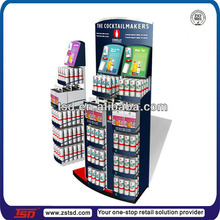 TSD-M122 Custom supermarket 5 tier metal stand for advertising/metal stand for bottles/metal stand for shops