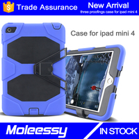 High lever shockproof case for ipad mini 4 with kickstand